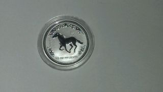 2002 1/2 Oz Silver Lunar Year Of The Horse (series I) photo