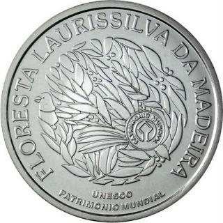 Ek // 5 Euro Silver Coin Portugal 2007 Unesco - Laurisilva Of Madeira : Unc photo