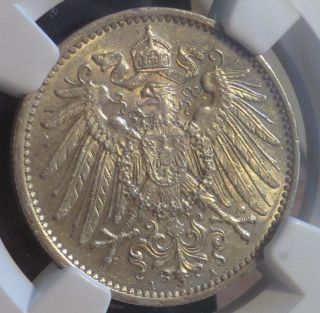 Germany Prussia 1900a Mark Ngc Graded Ms62 Silver photo