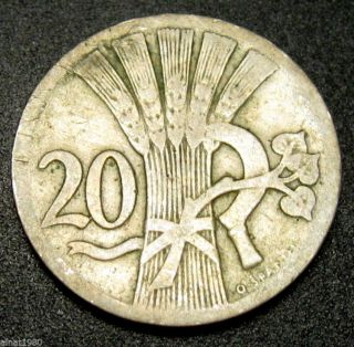 Czechoslovakia 20 Haleru Coin 1926 Km 1 (a1) photo