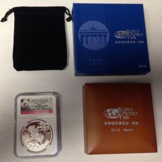 2013 Pf70 Ultra Cameo Berlin World Money Fair Silver Panda Coin 1oz photo