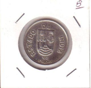 Portugal Portuguese India 1/2 Rupia 1936 Fine photo