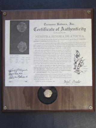 Nuestra Senora De Atocha Shipwreck Coin 4 Reales Mel Fisher Find Grade 1 Coin photo