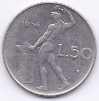1956 - R Italy 50 Lire That Is Extra Fine photo