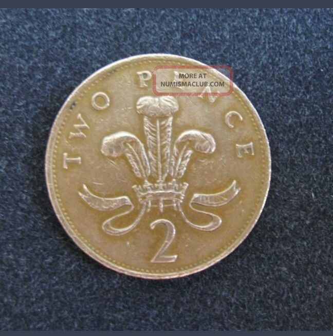 Coin 2 Two Pence 1994 Geat Britain Coin World. UK (Great Britain) photo