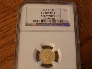 Ngc 1858 S Gold $1 Coin photo
