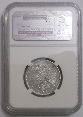 Italy.  2 Lire 1905r - Vittorio Emanuele Iii.  Silver.  Km 33.  Ngc - Vf Details. photo