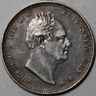 1836 Xf William Iiii Silver Shilling (coin) Great Britain photo
