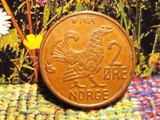 Norway 1959 - 2 Ore Coin