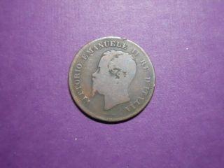 Italy - 58 Centesimi - 1861m photo