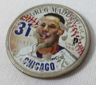Greg Maddux 31 Chicago 2003 Illinois Statehood Coin Commemorative Quarter photo