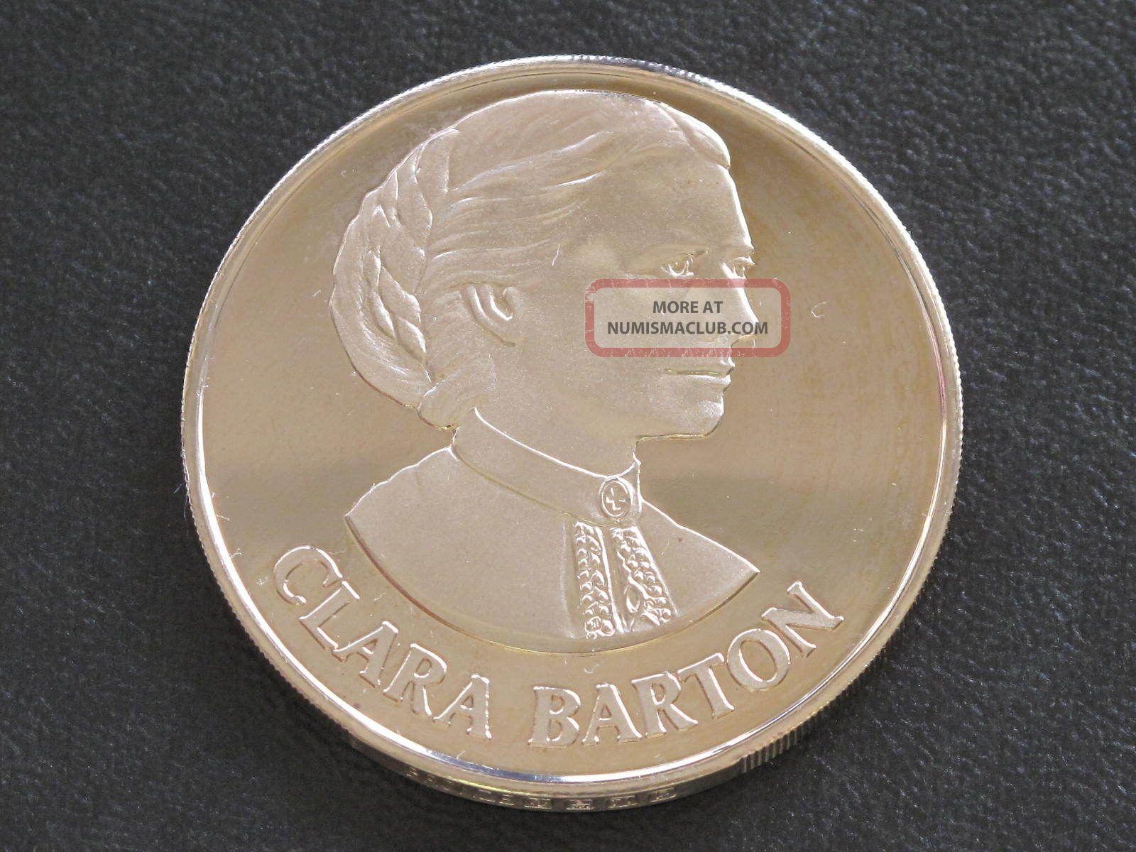 Clara Barton Proof - Quality Solid Bronze Medal Danbury D0379 Exonumia photo