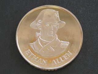 Ethan Allen Proof - Quality Solid Bronze Medal Danbury D0370 photo