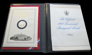 1985 Presidential Reagan/bush Inaugural Medal -.  999 Fine Silver photo