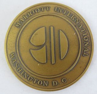 Marriott International October 1993 Washington D.  C.  Host Marriott Medal Token photo