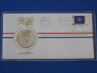 1976 Hampshire Bicentennial First Day Cover Silver Franklin T1652l photo