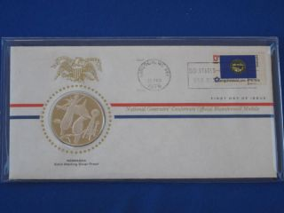 1976 Nebraska Bicentennial First Day Cover Silver Franklin T1654l photo