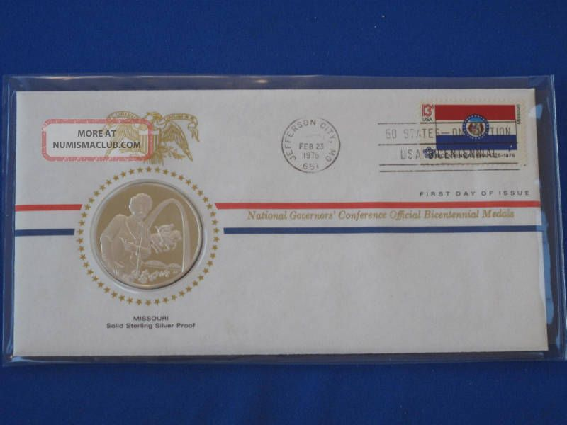 1976 Missouri Bicentennial First Day Cover Silver Franklin T1657l Exonumia photo