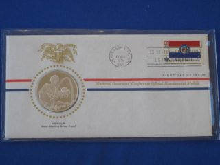 1976 Missouri Bicentennial First Day Cover Silver Franklin T1657l photo
