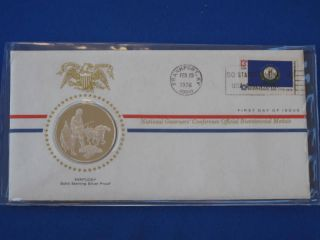 1976 Kentucky Bicentennial First Day Cover Silver Franklin T1661l photo