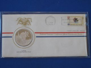 1976 Illinois Bicentennial First Day Cover Silver Franklin T1665l photo