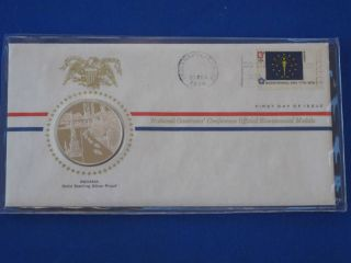 1976 Indiana Bicentennial First Day Cover Silver Franklin T1664l photo