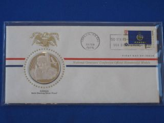 1976 Kansas Bicentennial First Day Cover Silver Franklin T1662l photo