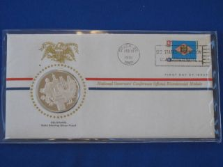 1976 Delaware Bicentennial First Day Cover Silver Franklin T1672l photo