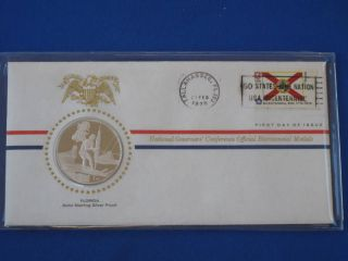 1976 Florida Bicentennial First Day Cover Silver Franklin T1669l photo