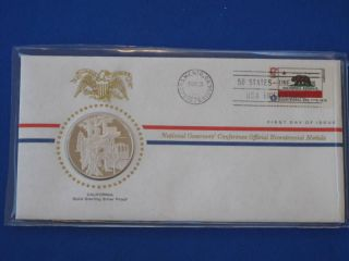 1976 California Bicentennial First Day Cover Silver Franklin T1677l photo