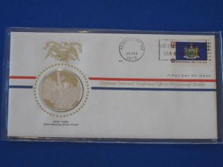 1976 York Bicentennial First Day Cover Silver Franklin T1649l photo