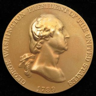 U.  S.  Medal No.  601 George Washington Time Increases His Fame Bronze photo