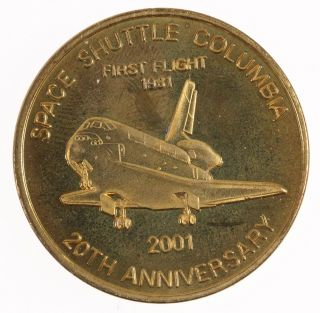 2001 Bronze Medal - Boeing Coin Club Space Shuttle Columbia Commemorative photo