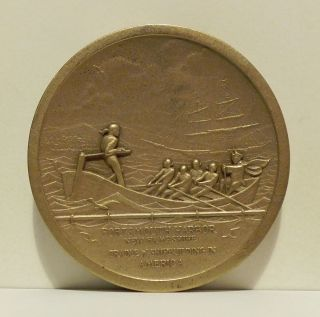 1974 Portsmouth Harbor Hampshire Cradle Of Shipbuilding In America Medal photo