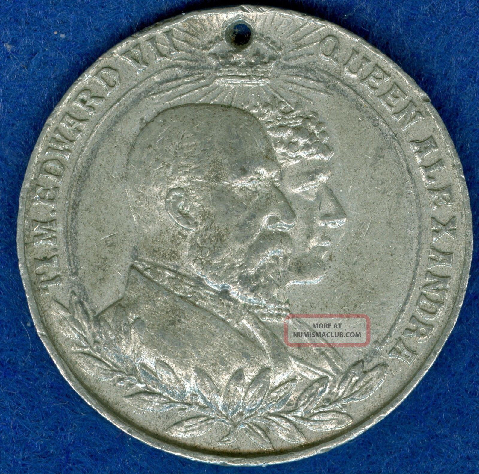 1902 King Edward Vii Coronation Celebration Medal,  Issued By Chatham Exonumia photo