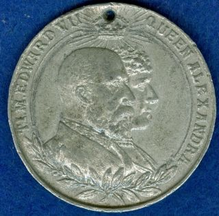 1902 King Edward Vii Coronation Celebration Medal,  Issued By Chatham photo