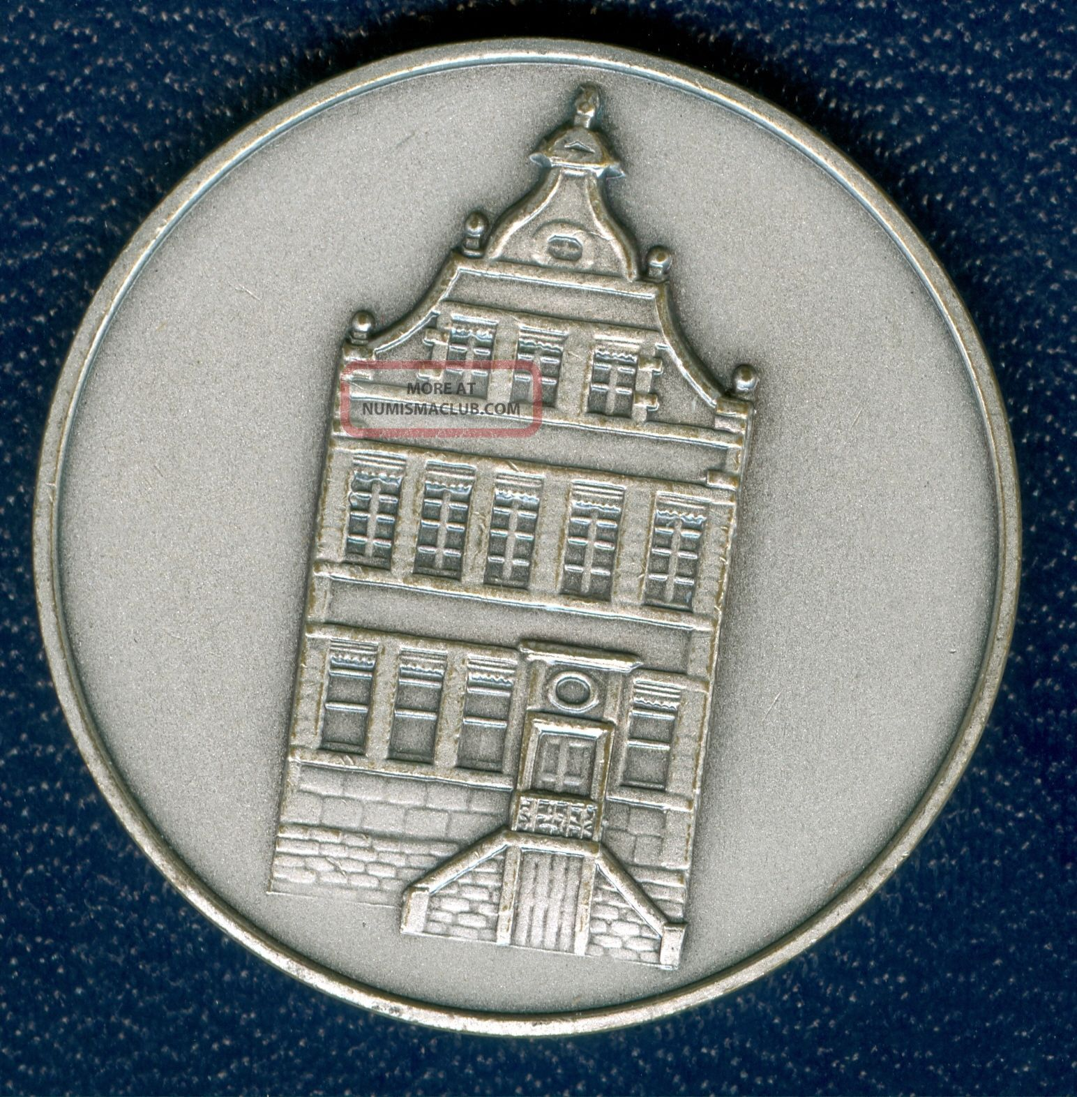 1974 Belgium Medal In Honor Of The Municipality Of Eupen,  In Silvered Bronze Exonumia photo