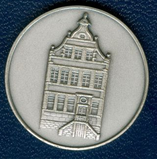 1974 Belgium Medal In Honor Of The Municipality Of Eupen,  In Silvered Bronze photo