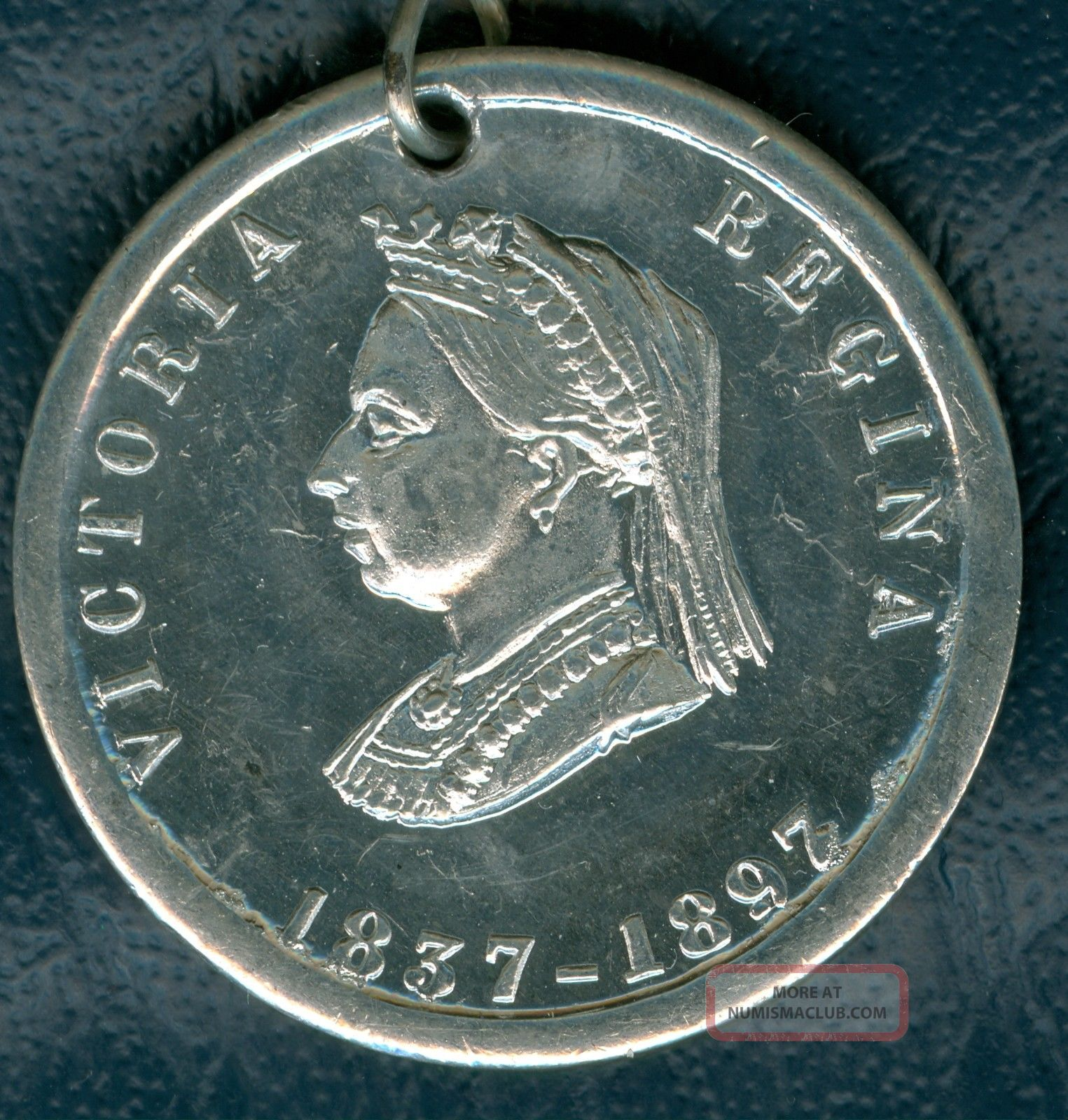 1897 Queen Victoria Sixty Year Jubilee Celebration Medal,  Small Exonumia photo