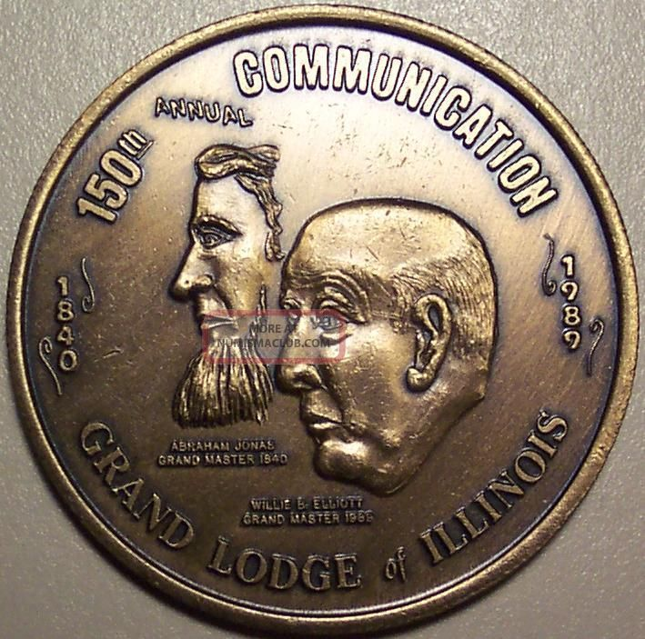 150th Annual Communication Grand Lodge Of Illinois - Masonic Medal Exonumia photo