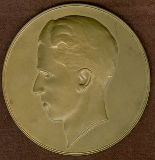 1960 ' S Belgium Medal In Honor Of King Baudouin,  By C.  Van Dionant photo