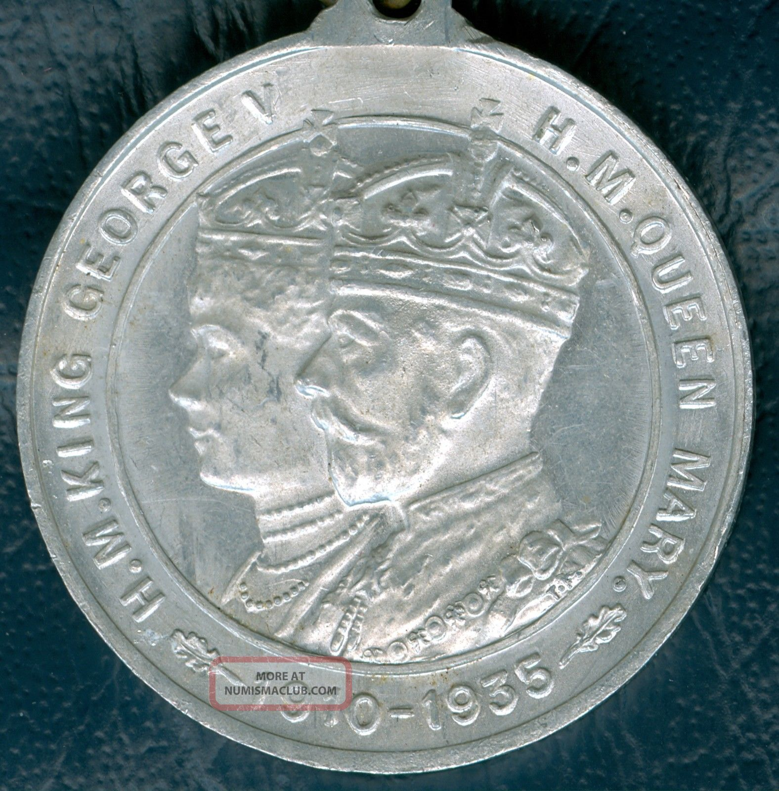 1935 British Medal To Commemorate King Edward Vii ' S Silver Jubilee By Dartmouth Exonumia photo