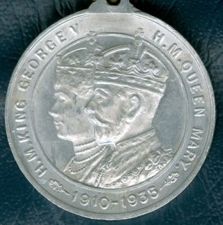 1935 British Medal To Commemorate King Edward Vii ' S Silver Jubilee By Dartmouth photo