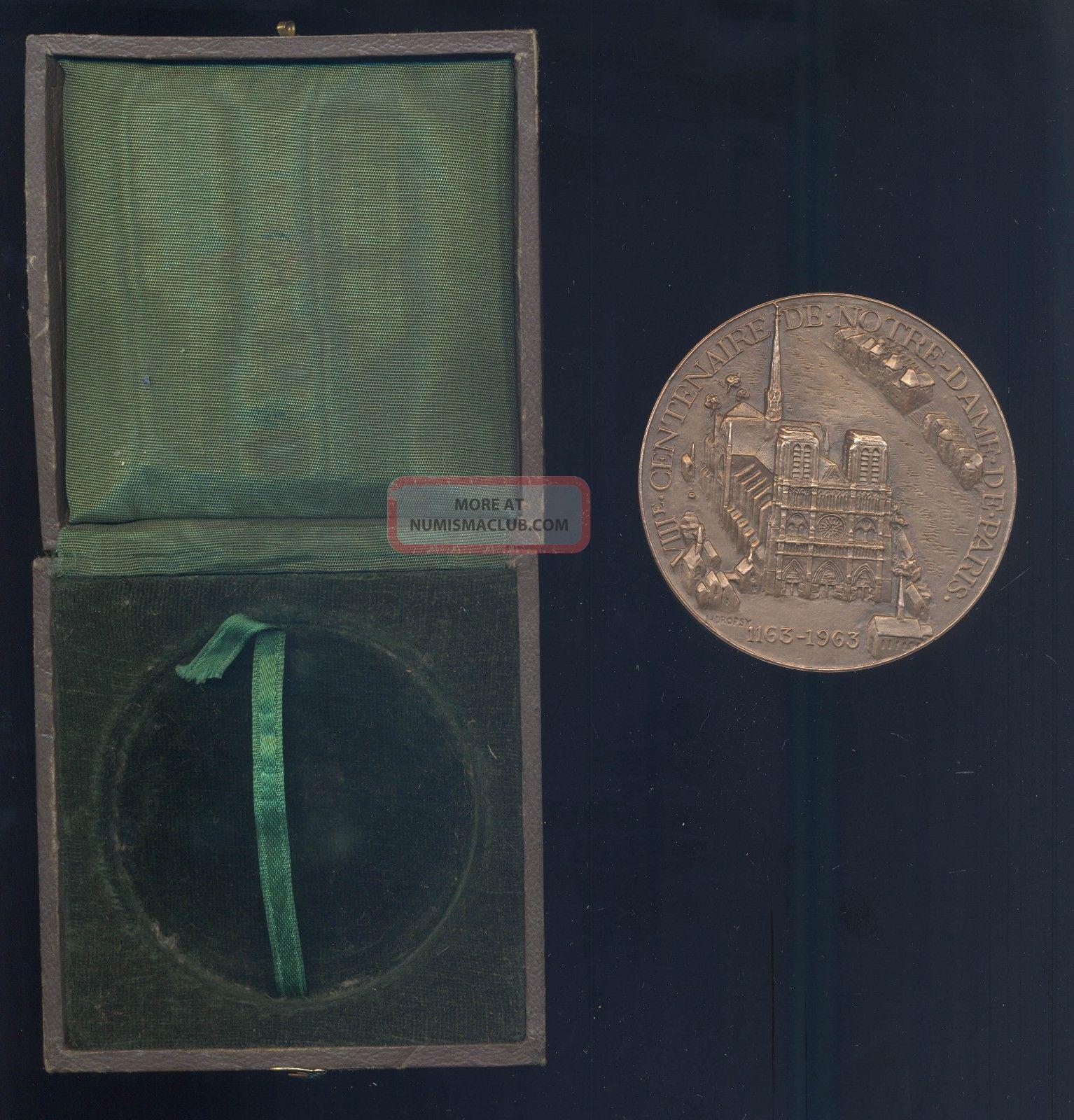 France Art Deco Notre Dame Paris Size Medal By Dropsy Christian Exonumia photo