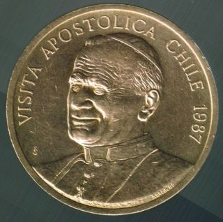 Chile 1987 Medal Visit Of Pope John Paul Ii photo