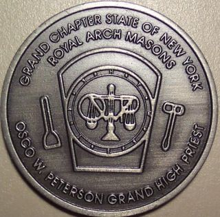 Grand Chapter State Of N.  Y.  Royal Arh Masons Osco W.  Peterson Grand High Priest photo