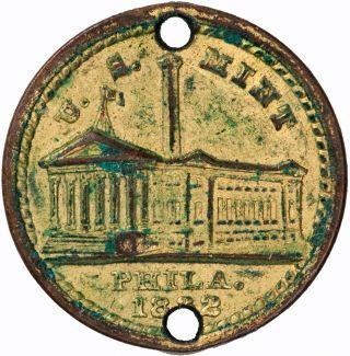 Usa Philadelphia Lord ' S Prayer Medal 1832 Unc,  Very Interesting photo