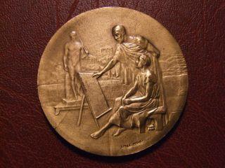Art Nouveau Painting & Design Teaching Medal By Émile Monier photo