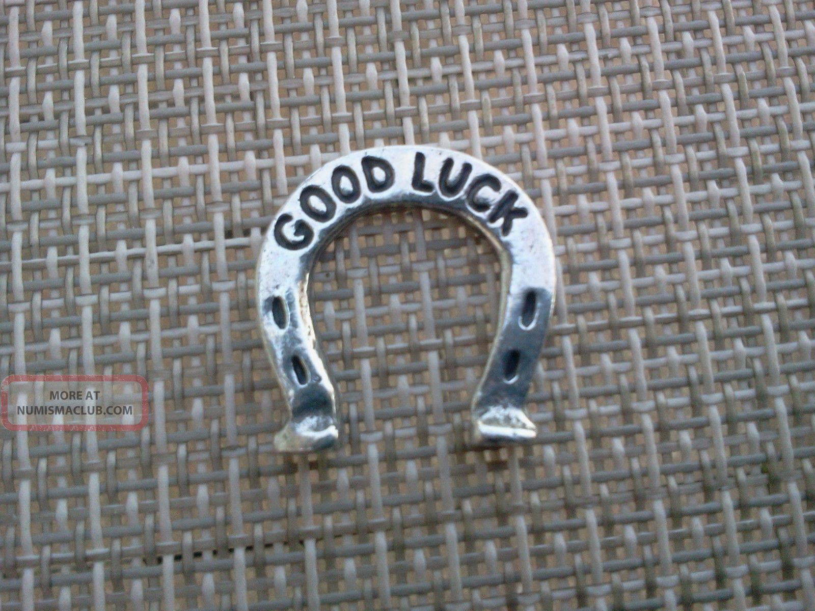 Your Lucky Horse Shoe Good Luck Pocket Coin Piece Pewter All Exonumia photo
