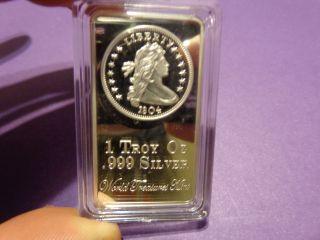 1 Troy Oz.  Silver Clad Bar photo
